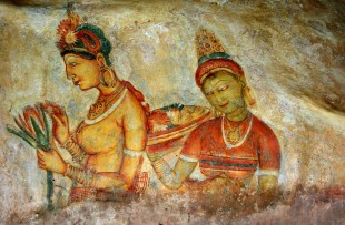 ANCIENT FRESCO AT SIGIRIYA ROCK copy